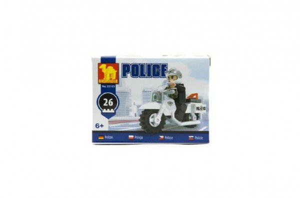 Stavebnice Dromader Policie Motorka 26ks
