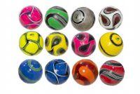 Míč fotbalový s pumpičkou 20cm Dunlop vel. 5 šitý asst 4 barvy v síťce
