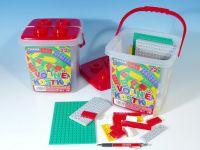 Teddies Cheva 22 Stavebnice Volné kostky plast 17x22x17cm 242ks v kbelíku