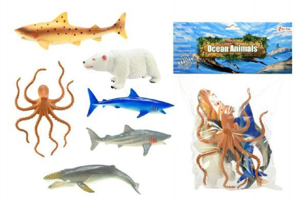 Teddies 57831 Zvířátka mořská plast 14cm