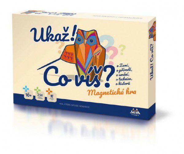 Ukaž!, co víš? společenská magnetická hra v krabici 42x29x6cm