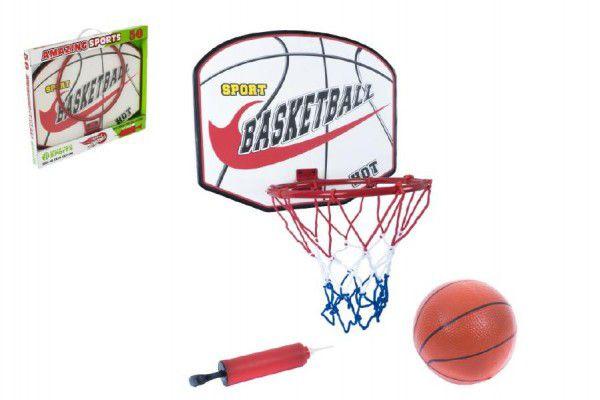 Basketbalový koš a míč s pumpičkou