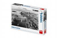 Puzzle New York Manhattan černobílé 66x47cm 1000 dílků v krabici 32x23x7,5cm