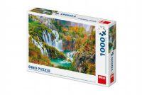 Teddies Puzzle Plitvická jezera Chorvatsko 66x47cm 1000 dílků