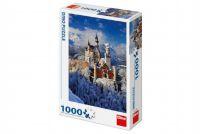 Teddies Puzzle zimní Neuschwanstein 47x66cm 1000 dílků