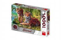Teddies Puzzle Tygři 12 skrytých detailů 1000 dílků 66x47cm