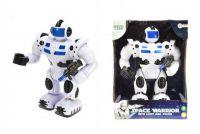 Teddies Robot válečník plast 25cm na baterie chodící se světlem a zvukem