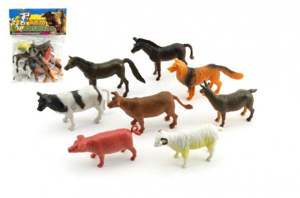 Teddies Zvířátka farma plast 8ks 18x24x3cm
