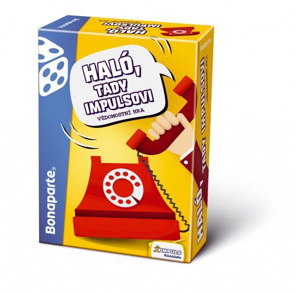 Haló, tady Impulsovi společenská vědomostní hra v krabici 10,5x15,5x4,5cm