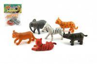 Zvířátka mláďata safari ZOO plast 6ks v sáčku 14x18x3cm