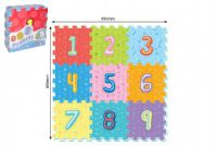 Teddies Pěnové puzzle číslice 9ks 32x32cm 10m+