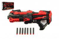 Teddies Pistole na pěnové náboje plast 45cm na baterie