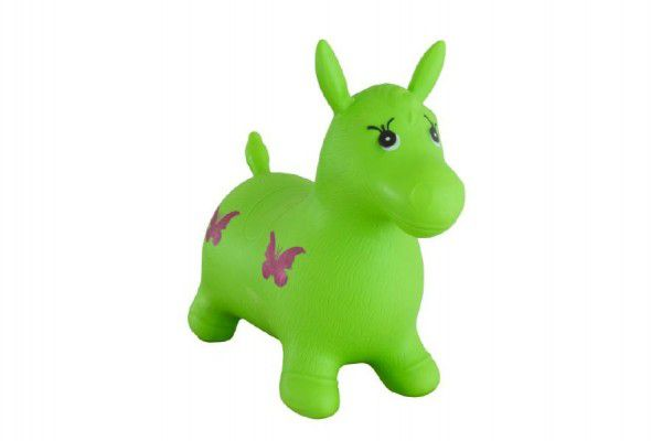 Hopsadlo kůň skákací gumový zelený 49x43x28cm