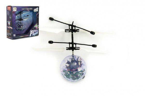 Teddies 58291 Vrtulníková koule plast 13x11cm s USB kabelem na nabíjení