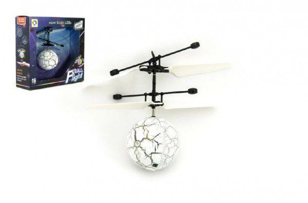 Vrtulníková koule barevná plast 13x11cm s USB kabelem na nabíjení v krabičce