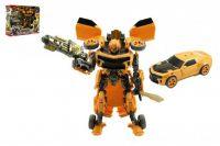 Transformer auto/robot žluté plast v krabici 28x23x8cm