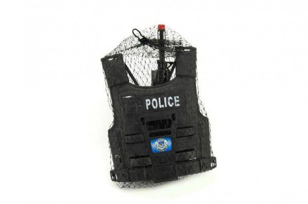 Teddies 58488 Sada policejní pistole a přilba s doplňky plast