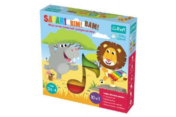 Teddies 58654 Safari Bim! Bam! hudebně-pohybová hra 10v1 + velký dřevěný xylofon v krabici 27x27x6cm