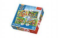 Puzzle 4v1 Paw Patrol v krabici 28x28x6cm