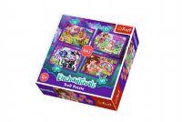 Puzzle 4v1 Enchantimals v krabici 28x28x6cm