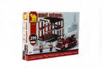 Dromader 21504 Stavebnice hasiči 299ks v krabici 35x25,5x5,5cm