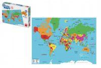 Puzzle mapy Svět 82 dílků ve tvaru zemí 1:1 v krabici 32x23x7cm