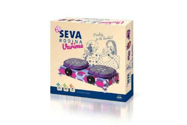 Seva Stavebnice Rodina Vaříme vařič+robot+mikrovlnná trouba plast 682 dílků v krabici 35x33x8,5cm