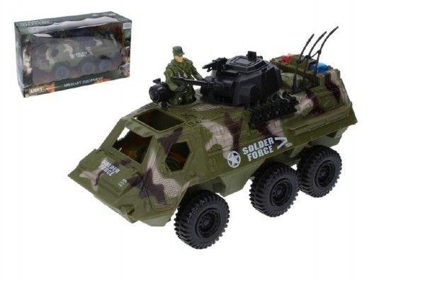 Wiky Auto vojenské obrněný transportér s doplňky plast 30cm volný chod