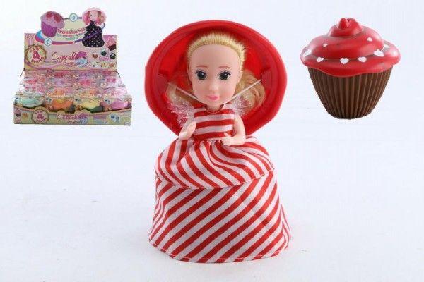 Panenka/Cupcake plast 1vonící asst 12 druhů v krabičce 12ks v boxu série