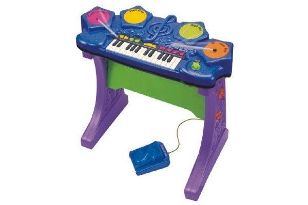 Teddies Piáno klávesy s bubny plast