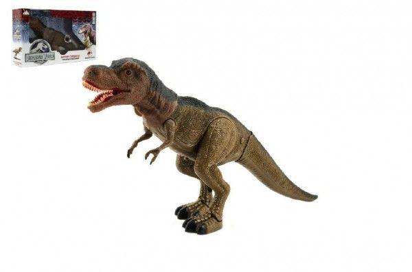 Teddies Dinosaurus chodící 40cm na baterie se světlem se zvukem