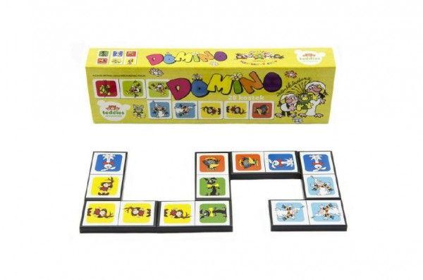 Domino Pojď s námi do pohádky 28 ks společenská hra
