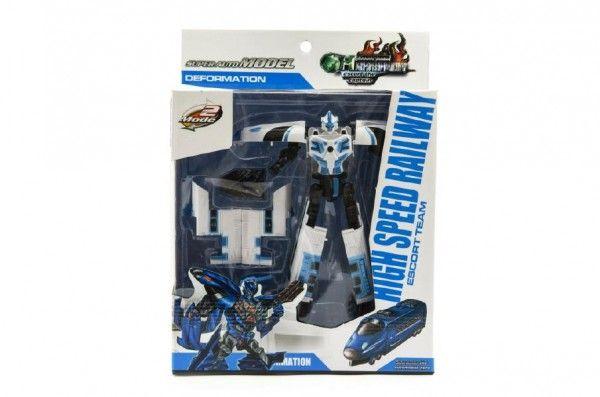 Teddies 59470 Robot/vlak transformer plast 17cm asst 2 barvy v krabici 21x27x7,5cm