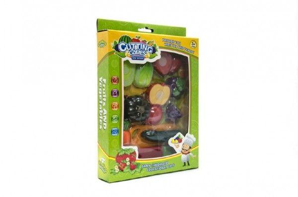 Teddies Ovoce a zelenina krájecí s náčiním plast 18ks