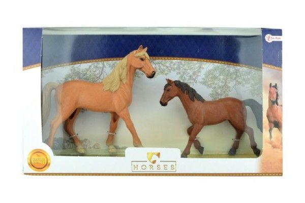 Sada koně 2ks plast v krabici 44x26x7cm