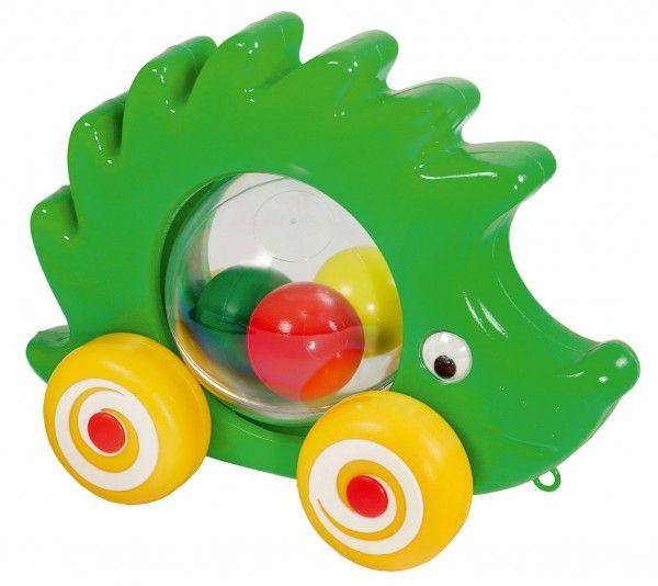 Ježek s míčky tahací plast 20cm v sáčku