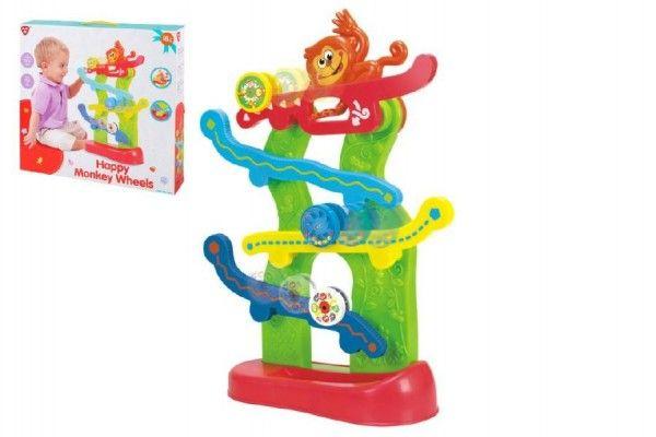 Opičí dráha s kolečky plast v krabici 40x38x8cm 18m+