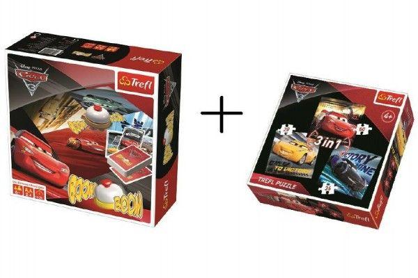 PACK Hra Boom Boom CARS 3 + puzzle 3 v 1 grátis v krabici