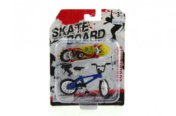 Skateboard prstový s kolem plast 10cm