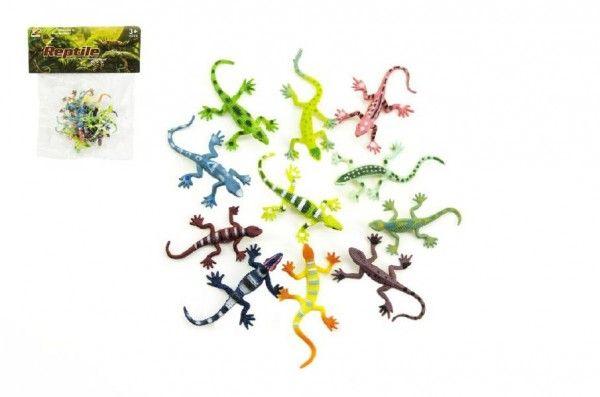 Ještěrky/hmyz plast 7cm asst mix barev v sáčku