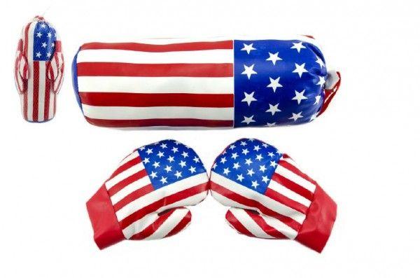 Boxovací pytel + rukavice 3v síťce