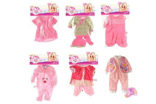 Oblečky/Šaty pro panenky vel. 20-30cm asst v sáčku 25x40cm
