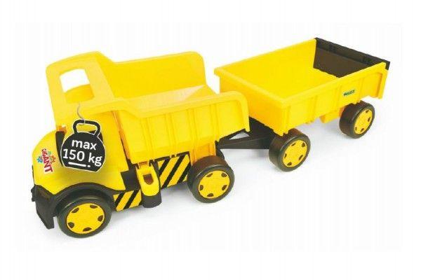 Auto Gigant Truck + vlečka plast v krabici Wader 55x60x32cm