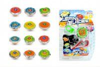 Káča Spin Blades plast točící+startér na baterie se světlem asst mix barev na kartě 15x21x4cm