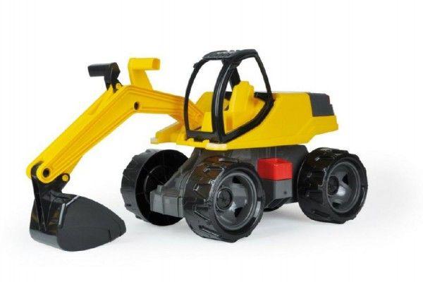 Bagr žlutočerný Giga Trucks plast 80cm v krabici 70x35x29cm