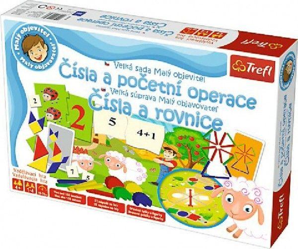 Malý objevitel Čísla a početní operace společenská naučná hra v krabici 40x27x6cm