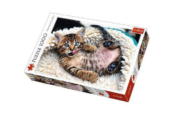 Puzzle Veselé kotě, 1000 dílků