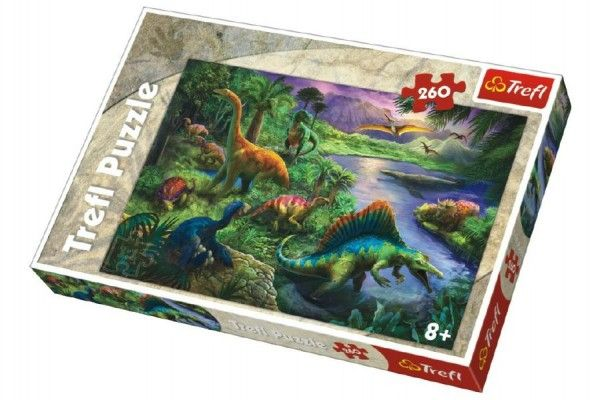 Puzzle Dinosauři 260 dílků 60 x 40 cm