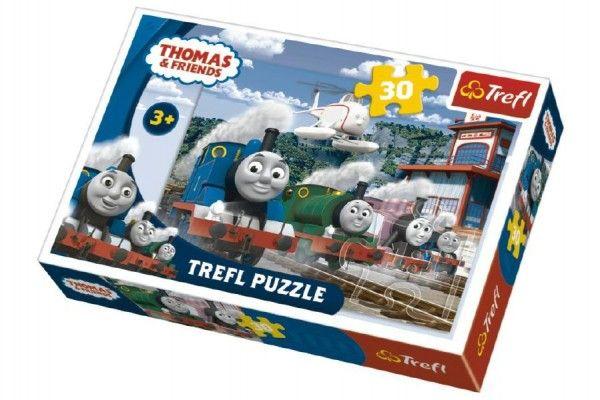 Puzzle Mašinka Tomáš 27x20cm 30 dílků v krabičce
