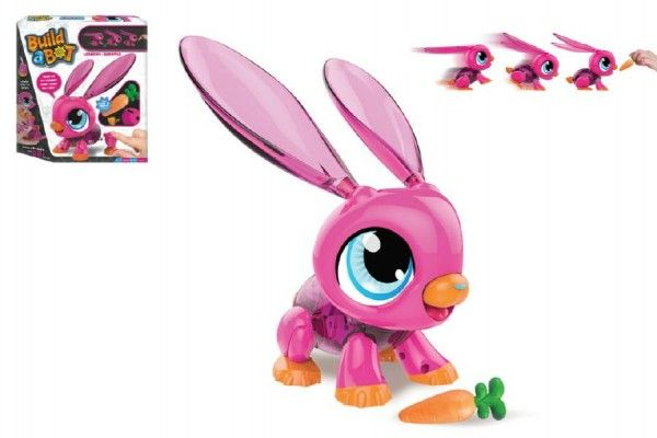 Build a Bot králíček/robot sada plast 20ks na baterie v krabici 30x28x5,5cm